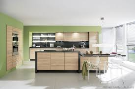 Light Wood Kitchen Cabinets - kitchen cabinets modern two tone 193 a115a black light wood green