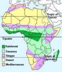 africa map climate zones facts and information about the continent of africa