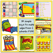 thanksgiving adjectives teaching with tlc 10 simple ways to make adjectives and adverbs fun