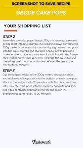geode cake pops recipe tastemade
