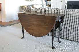 round drop leaf pedestal dining table