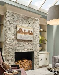 choose silver travertine stacked natural stone ledger panels to