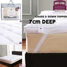 Feather Down Bed Topper 7cm Goose Feather U0026 Down Mattress Topper White Enhancer Deep
