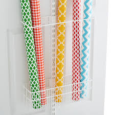 container store christmas wrapping paper white elfa utility gift wrap rack the container store