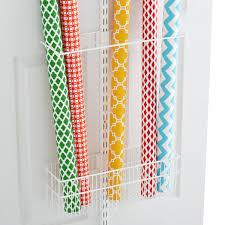 Organize Gift Wrap - white elfa utility gift wrap rack the container store