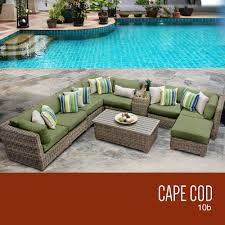 tk classics cape cod collection outdoor wicker patio furniture set