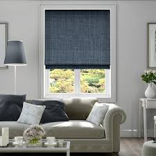 Touched By Design Blinds Cavendish Denim Blue Roman Blind Blue Roman Blinds Roman Blinds