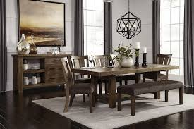 ashley furniture farmhouse table kitchen dinette sets formal dining room farmhouse table with bench 5