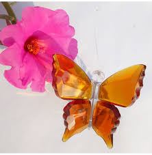 6 colors animal butterfly crafts glass paperweight