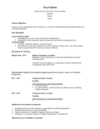 beginning resume sample resume format in canada resume for study