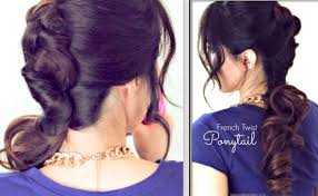 everyday french twist around ponytail hairstyle cute updos