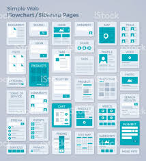simple webpage design flowchart or sitemap stock vector art