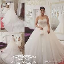 vogue white long chapel train wedding dresses for women 2017
