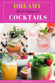 herb infused cocktails are our fall obsession