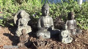 small lava powder resin buddha garden statues www
