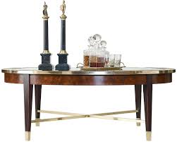Henredon Coffee Table by Henredon Furniture 2800 40g Living Room Crossroads Oval Cocktail Table