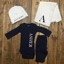 customized baby items personalized baby boy coming home boys monogrammed