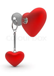 valentines day ring heart key ring day series 3d isolated objects