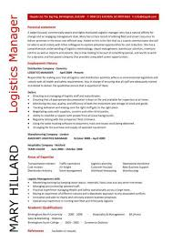 Personal Statement For Resume Examples by Logistics Manager Resume Personal Statement Writing Resume