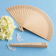 personalized wedding fans personalized sandalwood fan