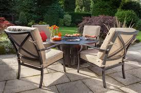 hartman florence emberglow gas fire pit set metal garden furniture