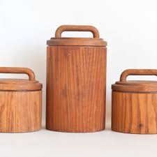 wooden canisters kitchen best flour and sugar canisters products on wanelo