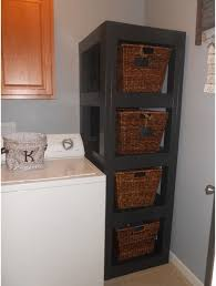 Laundry Room Storage Units Storage Organization Stylish Wooden Laundry Room Storage