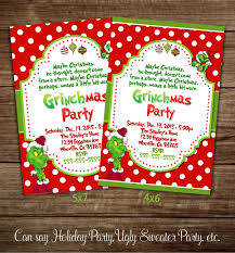 Invitation Card For Christmas Christmas Party Invitations Grinch Party Invitations Christmas