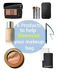 how to downsize how to downsize your makeup bag to 6 products babble