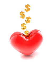 heart shaped piggy bank generous money donation stock illustration illustration of