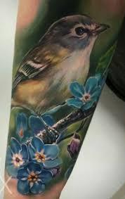 Flower And Bird Tattoo - top 25 best realistic flower tattoo ideas on pinterest vintage