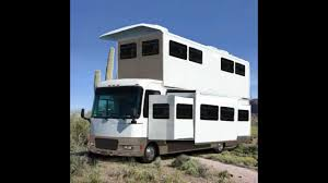 Arizona travel campers images Funny huge 2 story popup rv motorhome design in arizona desert jpg