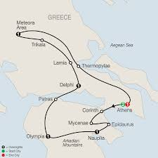 Greece Map Europe by Greece Tours Globus Europe Tours