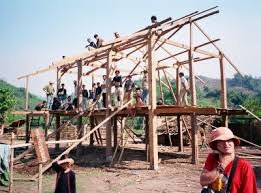 making a house type of house building a house
