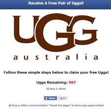 ugg sale hoax scam alert the ugg boots giveaway