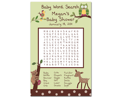 baby shower word search printable baby shower word scramble