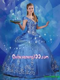 quinceanera cinderella theme 2015 summer new arrival v neck beaded cinderella quinceanera
