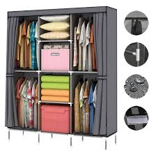 16 cube portable closet storage organizer clothes wardrobe rack