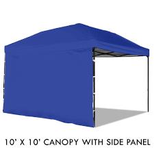 Steel Pop Up Gazebo Waterproof by Pop Up Canopy Tent With Sidewall 10 X 10 Feet Blue Uv Coated