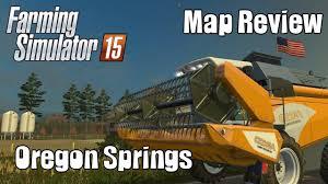 map of oregon springs farming simulator 15 oregon springs map showcase