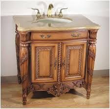 Bathroom  Distressed Wood Bathroom Vanity Charming Furniture - Bathroom vaniy 2