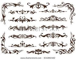 free ornamental floral elements vector free vector