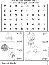 letter y alphabet activities at enchantedlearning com