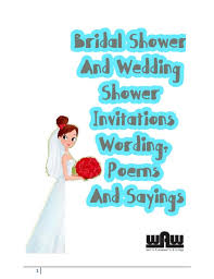 Wedding Invitations Sayings Bridal Shower And Wedding Shower Invitations Wording Poems And Sayin U2026