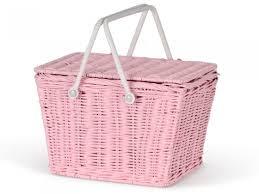 kids picnic basket pink piki kids basket by olli ella shop now