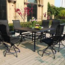 High Patio Table And Chairs High Patio Dining Table Table Designs
