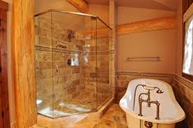 log home bathroom ideas creek cabin rustic bathroom denver by mountain log