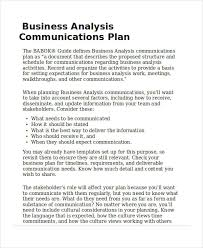templates for business communication 40 communication plan exles sles
