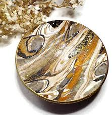 silver fish ring holder images Faux stone catchall ring dish ready to ship handmade jewelry jpg