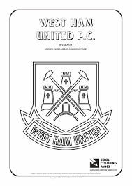 cool coloring pages soccer clubs logos west ham united f c